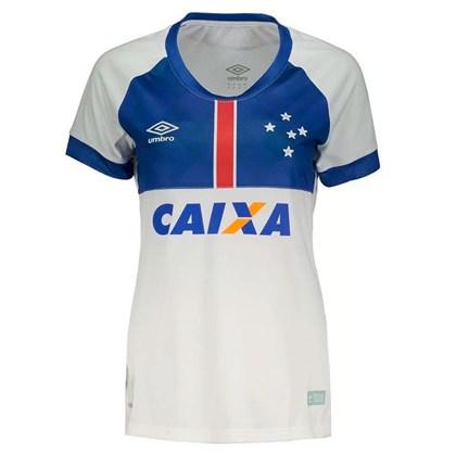 7fa3be3fc9 Camisa Umbro Cruzeiro Oficial Blaa Vikingur 2018 Feminina - Branco e ...