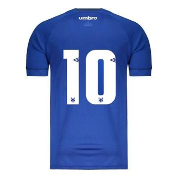 Camisa Umbro Cruzeiro Oficial I 2018 Masculina (GAME/Nº 10 ) - Azul