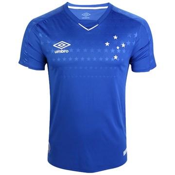 Camisa Umbro Cruzeiro Oficial I 2019 (Atleta S/N) Masculina - Azul