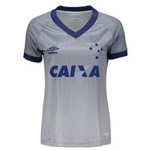 Camisa Umbro Cruzeiro Oficial III 2018 Feminina
