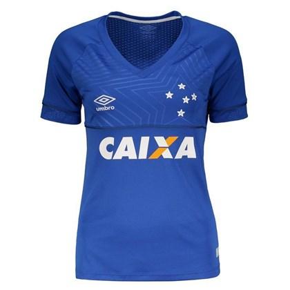1cf2e64cb7 Camisa Umbro Feminina Cruzeiro Oficial 1 2018 - EsporteLegal