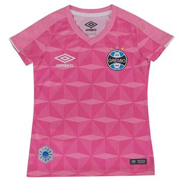 Camisa Umbro Grêmio Comemorativa Outubro Rosa Infantil