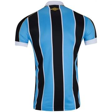 Camisa Umbro Grêmio I 2019 Plus Size Masculina (Classic S/N) - Azul e Preto