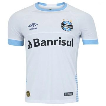 Camisa Umbro Grêmio II 2018 Plus Size Masculina (Fan Pat. S/N) - Branco e Azul