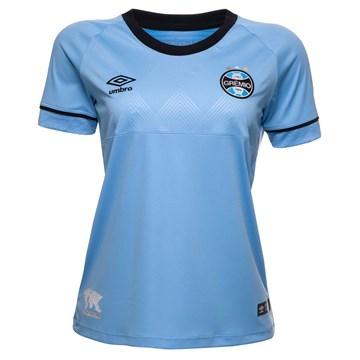 Camisa Umbro Grêmio Oficial Charrua 2018 Feminina - Azul