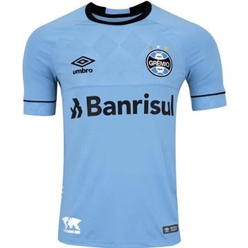 Camisa Umbro Grêmio Oficial Charrua 2018 Infantil - Azul