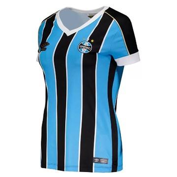 Camisa Umbro Grêmio Oficial I 2019 Feminina - Tricolor