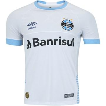 Camisa Umbro Grêmio Oficial II 2018 Masculina - Branco e Azul