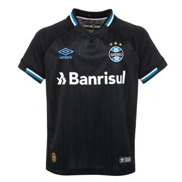 Camisa Umbro Grêmio Oficial III 2018 Juvenil