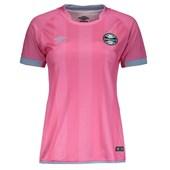 Camisa Umbro Grêmio Outubro Rosa 17/18 Feminina