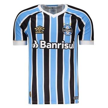 Camisa Umbro Masculina Grêmio Oficial 1 2018 (FAN PAT Nº 7)
