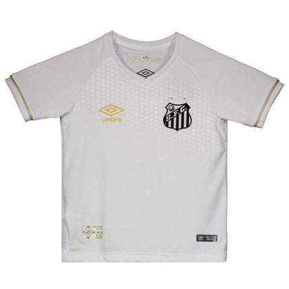 3a937018a5 Camisa Umbro Santos Oficial I 2018 Infantil - EsporteLegal