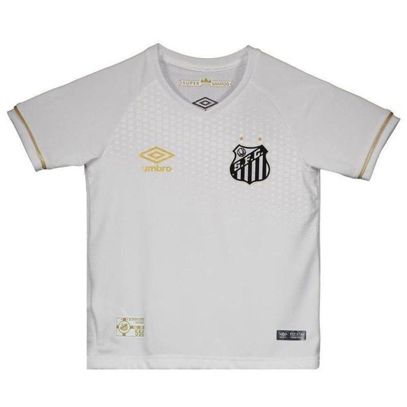 Camisa Umbro Santos Oficial I 2018 Infantil