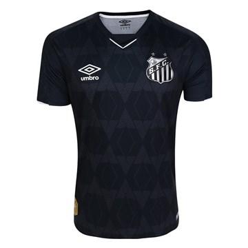 Camisa Umbro Santos Oficial III 2019 Infantil - Preto e Prata