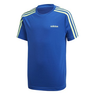 Camiseta Adidas 3 Stripes Infantil - Azul