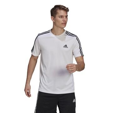 Camiseta Adidas Aeroready Designed To Move Sport 3 Stripes Masculina - Branco