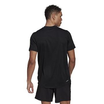 Camiseta Adidas Aeroready Designed To Move Sport 3 Stripes Masculina - Preto