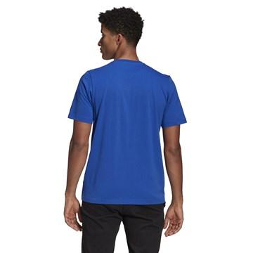 Camiseta Adidas Box Estampada Brushstroke Logo Masculina - Azul