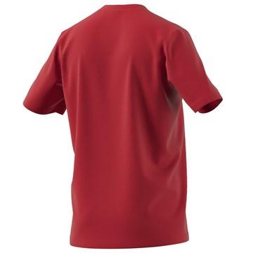 Camiseta Adidas Box Estampada Brushstroke Logo Masculina - Vermelho