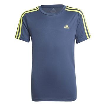 Camiseta Adidas Designed 2 Move 3 Stripes Infantil - Marinho