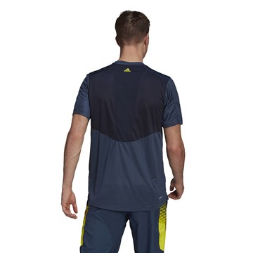 Camiseta Adidas Designed 2 Move Activated Tech Aeroready Masculina - Marinho