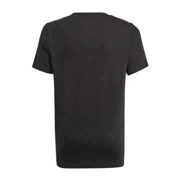 Camiseta Adidas Essentials 3-Stripes Infantil - Preto