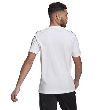 Camiseta Adidas Essentials 3 Stripes Masculina - Branco