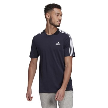 Camiseta Adidas Essentials 3 Stripes Masculina - Marinho