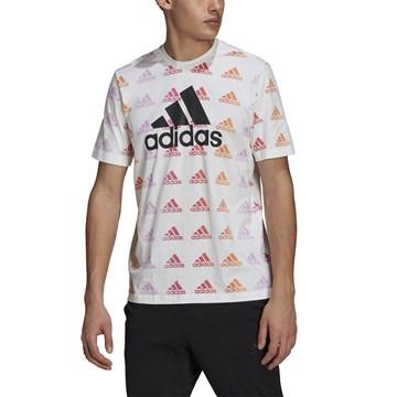 Camiseta Adidas Essentials Gradient Logo Masculina - Branco