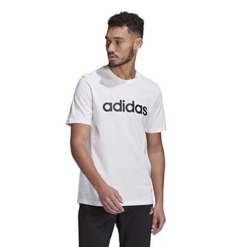 Camiseta Adidas Essentials Logo Linear Bordado Masculina - Branco