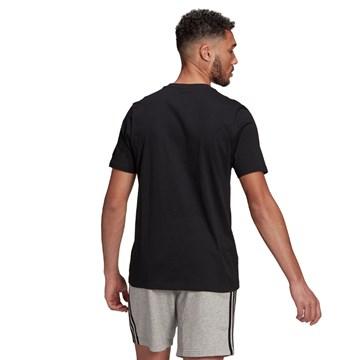 Camiseta Adidas Essentials Logo Linear Bordado Masculina - Preto