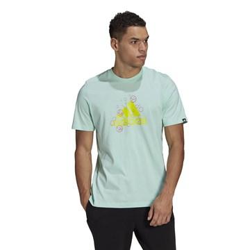 Camiseta Adidas Estampada Bubbles Logo Masculina - Verde