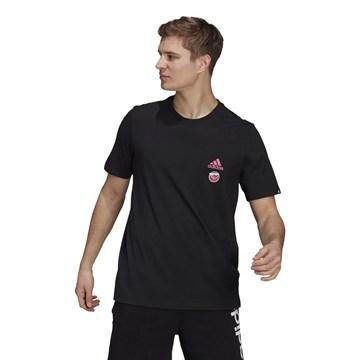Camiseta Adidas Estampada Club Culture Masculina - Preto