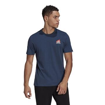 Camiseta Adidas Estampada Lit Logo Masculina - Marinho