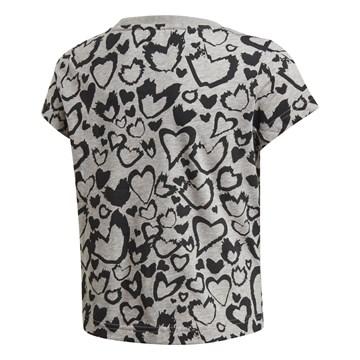 Camiseta Adidas Estampada Must Haves Infantil - Cinza e Preto