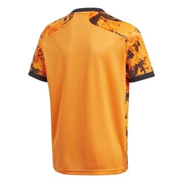 Camiseta Adidas Juventus Oficial III 2020/21 Infantil - Laranja e Preto