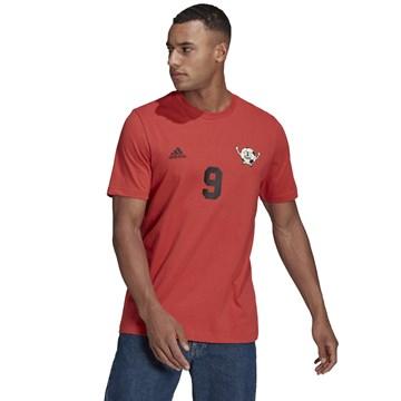 Camiseta Adidas Número Estampado LIL Stripe Masculina - Vermelho