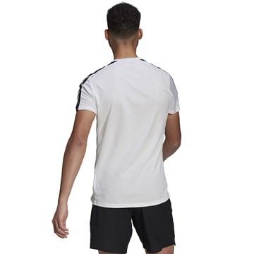 Camiseta Adidas Own The Run 3 Stripes Running Masculina - Branco
