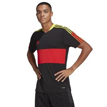 Camiseta Adidas Tiro 21 Masculina - Preto e Vermelho