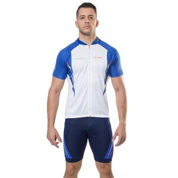 Camiseta Ciclismo Elite 135165 Masculina - Branco e Azul