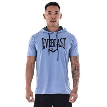 Camiseta Everlast Básica Com Capuz Masculina - Azul