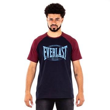 Camiseta Everlast Fundamentals Com Logo Masculina - Azul e Vermelho