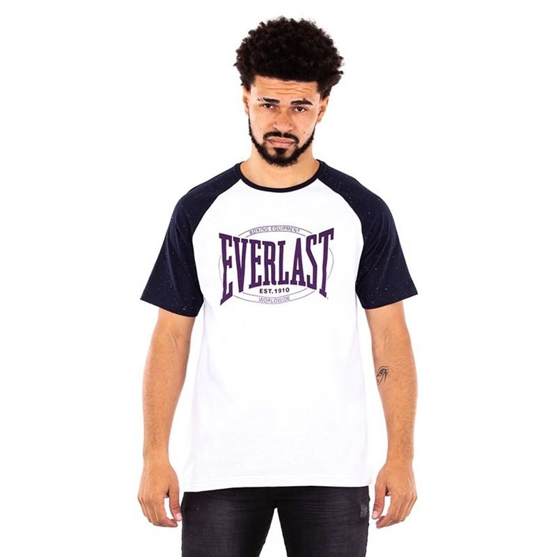 Camiseta Everlast Fundamentals Com Logo Masculina - Branco e Azul
