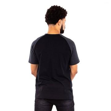 Camiseta Everlast Fundamentals Com Logo Masculina - Preto e Laranja