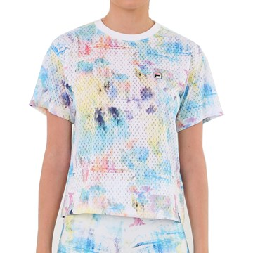 Camiseta Fila Aus 21 Feminina - Branco e Azul