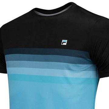 Camiseta Fila Aztec Box Colors Masculina - Azul e Preto