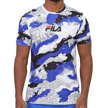 Camiseta Fila Basic Run Print Masculina - Branco