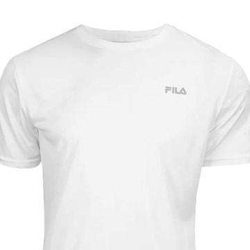 Camiseta Fila Basic Sports Masculina - Branco e Prata