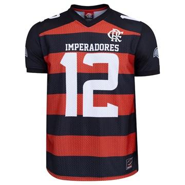 Camiseta Flamengo Braziline Imperadores Masculina - Preto e Vermelho