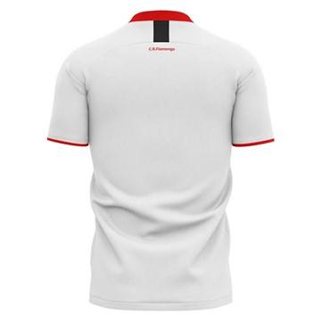 Camiseta flamengo Braziline Insight Infantil - Branco
